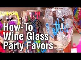 cheap personalized party favors threadbanger party how to make personalized wine glass party