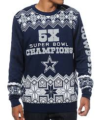 cowboys sweater nfl forever collectibles cowboys bowl sweater zumiez