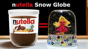 snow globe ballerina nutella jar glitter water glitzi art craft