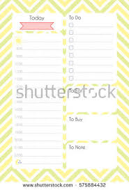 printable planner diary printable diary page daily planning paper stock vector 575884432