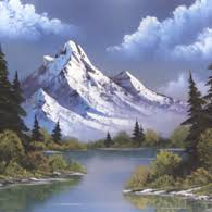 bob ross u0027 mountain reflections painting crafting board