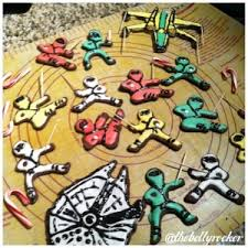 star wars ninja chocolate christmas cookies gluten and dairy free