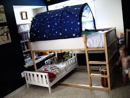 Bedroom Divine Design Ideas Using Rectangular Brown Wooden Bunk - Ikea bunk bed room ideas