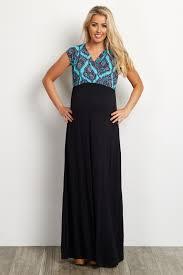 jade paisley v neck top solid bottom maternity nursing maxi dress