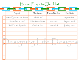 designing life home organization printable giveaway contest house projects checklist