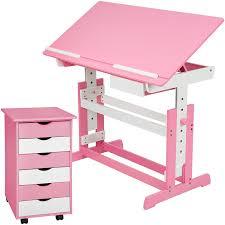 Schreibtisch H Enverstellbar G Stig Tectake Kinderschreibtisch Mit Rollcontainer Schreibtisch Neig