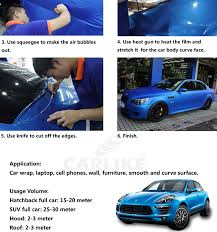 car wrapping paper carlike chrome mirror vehicle wrapping stickers foil glossy car