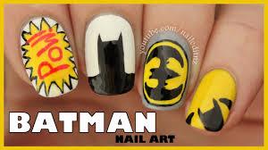 batman nail art youtube