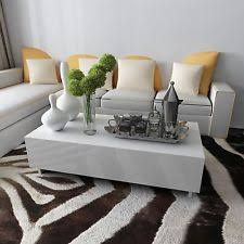 Modern White Coffee Table White Coffee Tables Ebay