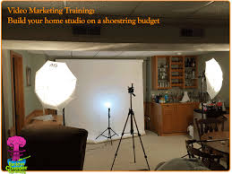 how to setup a home studio creating videos for business
