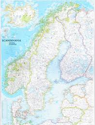 Scandinavia Map Scandanavia Map By National Geographic