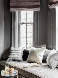 gray window seat bench cushion design ideas
