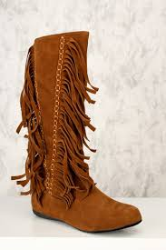 s boots with fringe cognac fringe toe boots faux suede