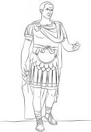 galius julius caesar ancient rome coloring history
