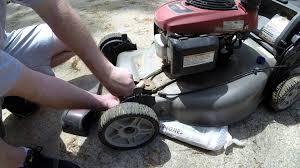 honda black max propelled mower wheels not turning youtube