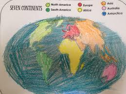 Seven Continents Map Student Work Samples U2013 Ms Garcia U0027s Portfolio
