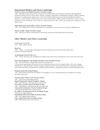 Youth Ministry Resume Examples by Resume 09 Chris R