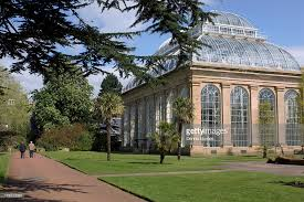 Edinburgh Botanic Gardens The Palm House At The Royal Botanic Gardens In Edinburgh Stock