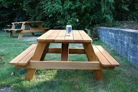 Kids Outdoor Picnic Table Kids Wood Picnic Table U2013 Seattle Cedar