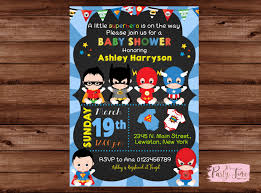 superhero baby shower invitation super baby shower