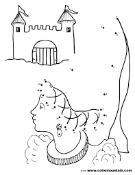 free princess dot to dot coloring create a printout or activity