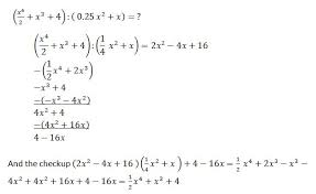 determining polynomials basic operations most important rules