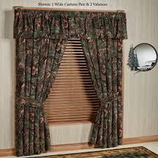 mixed pine rustic camo camouflage window treatment