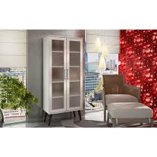 Barrister Bookcase Door Slides Altra Furniture Aaron Lane White Glass Door Bookcase 9448196pcom