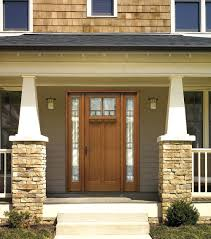 wood paneling exterior contemporary main door design entry stone wall recessed lighting