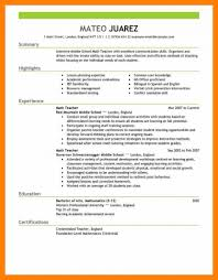resume exles for teachers 13 teachers resume sles students math exles
