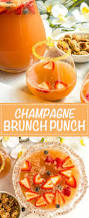 champagne brunch punch family food on the table