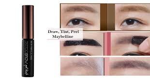 tattoo eyebrows by maybelline maybelline 1st ever brow tattoo gel tint that gives you natural
