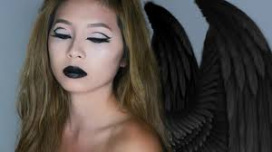 easy dark angel fallen angel halloween tutorial youtube