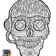 dead sugar skulls complicated coloring free skull