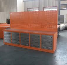 new 10ft 20 drawer heavy duty work bench orange with