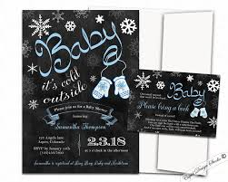 winter baby shower baby it s cold outside baby shower invitations blue or pink winter