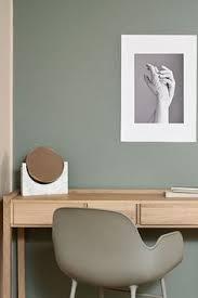 bedroom tikkurila green paint wall linen hanna perälä