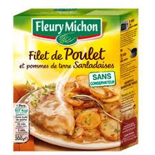 plat cuisiné fleury michon fleury michon filet de poulet et pommes de terre sarladaises