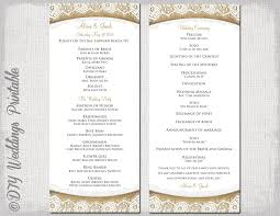 wedding program template blank wedding program templates with blank wedding program