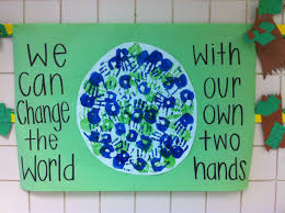 earth day handprint activity made this with my second graders