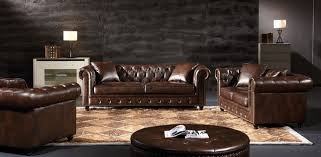 Chesterfield Sofa Brown Traditional Brown Chesterfield Sofa Loveseat Set In Leather Air