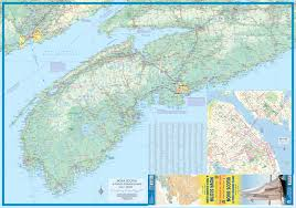 Map Of Nova Scotia Maps For Travel City Maps Road Maps Guides Globes Topographic