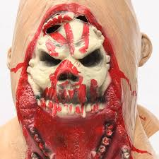 latex halloween mask kits halloween latex bloody mask zombie face melting costume party prop
