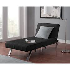 furniture grey theme wall design ideas with black fabric chaise
