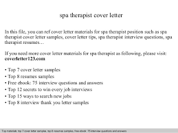 letter for therapist job