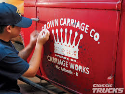 Vintage Ford Truck Art - lettering for a 1929 ford truck rod network