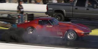 diesel jeep rollin coal cummins 1968 corvette dragster covers track in diesel fumes