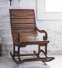 Rocking Chair Buy Wellesley Solid Wood Rocking Chair In Provincial Teak Finish By