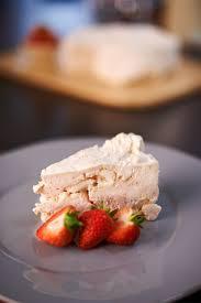 Rachel Allen Dinner Party - iced strawberry meringue cake gusto