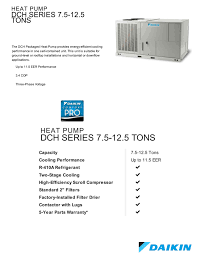 10 ton daikin heat pump package unit central air system 208 230v